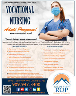 Vocational Nursing Flyer