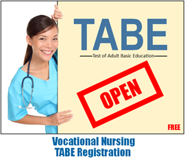 LVN TABE Registration Open
