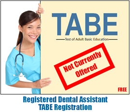 Pharmacy Tech TABE Registration