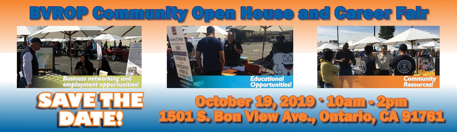 Baldy View ROP Community Open House and Career Fair 10/19/19 10am-2pm